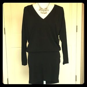 Haute Hippie Black Dolman Sleeve Mini Dress